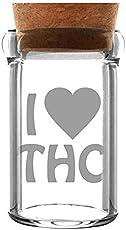 WeedStar Weedjar 135ml Glasbehälter I Love THC