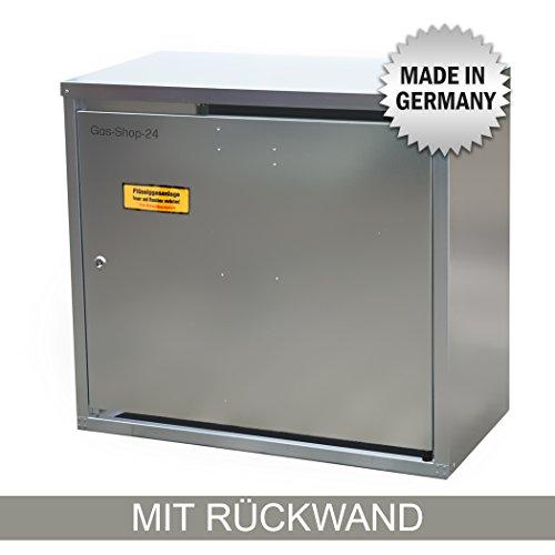 2 x 11 kg Propangas Flaschenschrank / Gasflaschenschrank verzinkt MIT RÜCKWAND (geeignet für 3-, 5, 10, 11 kg Gasflaschen - Gasschrank Schutzschrank)