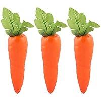 sourcing map Cocina Mesa De Comedor Decoración Artificial Zanahoria Diseño De Moldes Vegetal 3Pcs Naranja