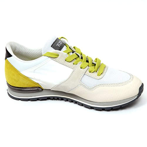 D0370 sneaker uomo TODS SPOILER scarpa avorio/verde oliva chiaro shoe man avorio/verde