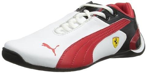 Puma JNR Future Cat M2 SF 303968, baskets mixte enfant - Blanc - White/Red/Black, 6 UK