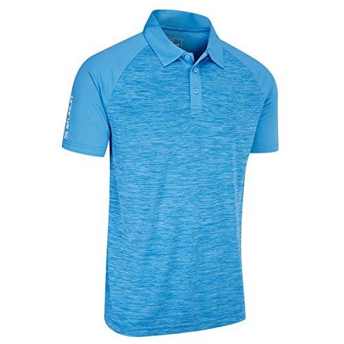 Feuchtigkeit Wicking Golf Polo (Stuburt Herren Evolve Feuchtigkeit Wicking Milby Golf-Polo-Hemd - Blau - M)