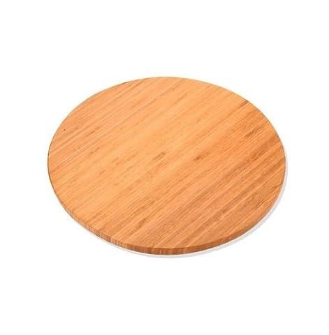 Plateau tournant de présentation ou rangement en bambou diamètre 35