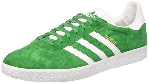 adidas Unisex-Erwachsene Gazelle Niedrige Sneaker, Grün (Green/White/Gold Metallic), 49 1/3 EU