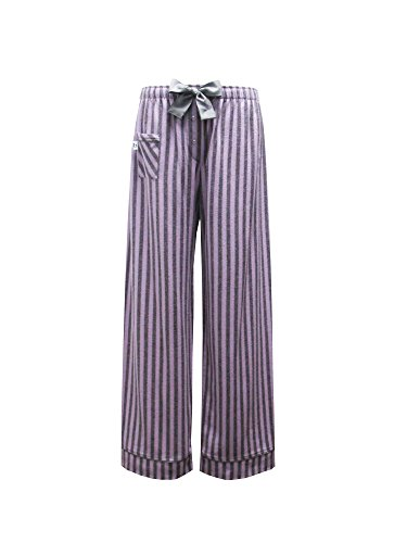 boxercraft - Bas de pyjama - À Rayures - Femme taille unique Purple and Grey Striped Fantasy