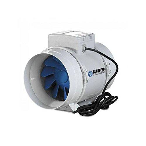 Blauberg: Estrattore D'Aria Silenzioso Bi-Turbo 12,5cm + cavo - 250m3/h