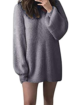 [Patrocinado]Luckycat Mujeres Suelto Suéter Jerséis de Cuello Alto Manga Largo Cálido Prendas de Punto Pullover Jerseys Tops...