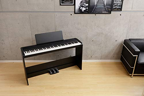 Korg B2SP Digital Piano with Wooden Stand and Pedal-board - Black