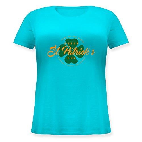St. Patricks Day - St. Patricks Day Luck of The Irish - Lockeres Damen-Shirt in Großen Größen mit Rundhalsausschnitt Türkis