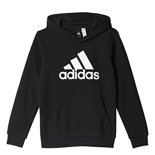 adidas Kinder Logo Kapuzenpullover, Black, 152 (Hoodie Performance Sweatshirt)