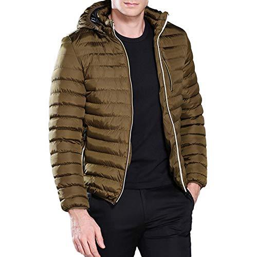 Bazhahei uomo top,uomo cappotto in cotone packwork,uomo giacca con cappuccio con cerniera,piumino giacca uomo manica lunga caldo giubbotto giù ultraleggeri hooded jacket top coat