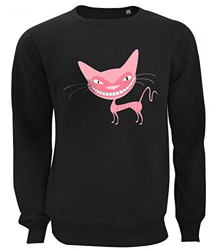 Three Monkeys Amazing Pink Cat Animals Collection Women's Unisex Sweatshirt