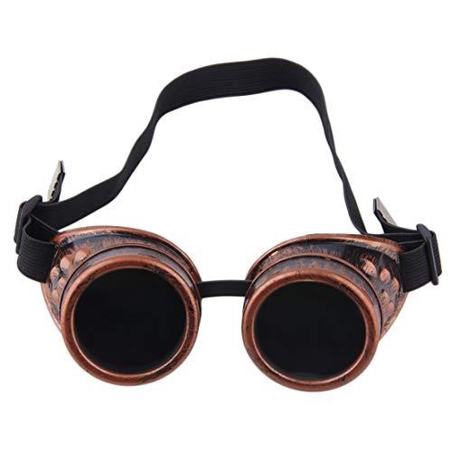 Professionelle Cyber   Brille Steampunk Brille Vintage Schweißen Punk Gothic viktorianischen Outdoor Sports Fahrrad Sonnenbrille DFHJSXD -
