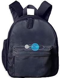 Preisvergleich für Funny Schoolbag Backpack Cartoon Funny Earth and Moon Toddler Kids Pre School Bag Cute 3D Print Children School...