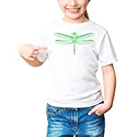 Three Monkeys Green 3D Insect Animals Collection Girls Classic Crew Neck T-Shirt