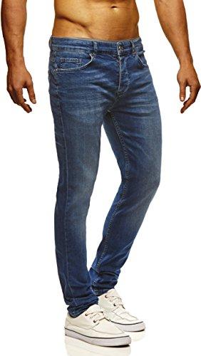 LEIF NELSON Herren Hose Jeans Jeanshose Freizeithose Denim LN720BL; W32L32, Blau