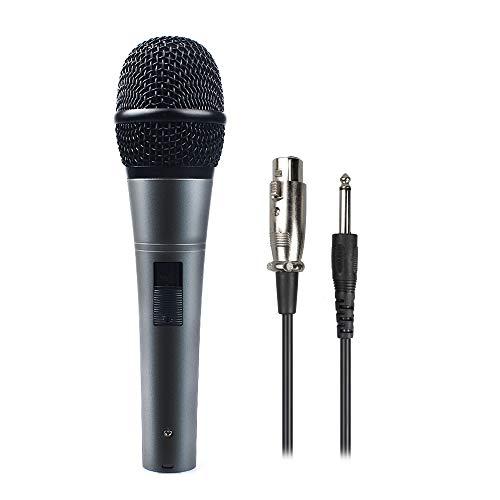Professionelles dynamisches Nierenmikrofon mit Kabel (19-Zoll-XLR-auf-1/4-Zoll-Kabel), MAONO-K04 Metallkabel, Plug-and-Play für Bühne, Auftritte, Karaoke, öffentliches Sprechen, Home-KTV (Dynamisches Mikrofon Mit Kabel)