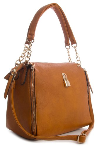 Big Handbag Shop, Borsa a mano donna One Arancione (arancione)