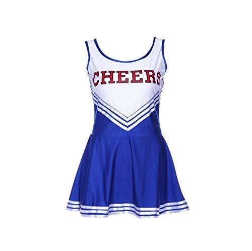 MCO%SISTSR Cheerleader-Kostüm,Mädchen Cheerleading Einheitliche Fußball Kleid High School Musik Kostüm Sport Wettbewerb Tanz ()