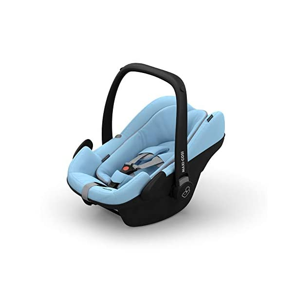 Maxi-Cosi Pebble Plus Baby Car Seat Group 0+, ISOFIX Car Seat, i-Size, 0-12 m, 0-13 kg, 45-75 cm, Sky Maxi-Cosi Baby car seat, suitable from birth to approximate 1 year (0-13 kg, 45-75 cm) Fits with compatible Maxi-Cosi base unit for ISOFIX installation i-Size for enhanced safety and optimal protection against side impacts 1