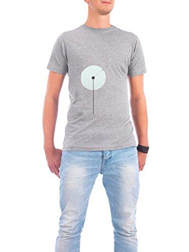 """Design T-Shirt Männer Continental Cotton """"Dandelion"""" - stylisches Shirt Floral Natur von Volkan Dalyan Grau"""