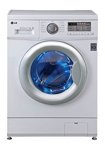 LG FH0B8EDL21 Fully-automatic Front-loading Washing Machine (7.5 Kg, Blue White)