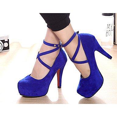 Moda Donna Sandali Sexy donna tacchi tacchi Estate Felpa casual Stiletto Heel altri nero / blu / rosso altri Blue