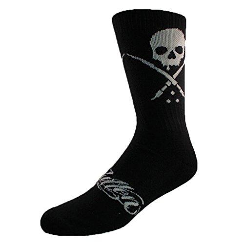 Casual Acryl-crew Socke (Sullen Clothing - Sullen Art Collective Herren Socken Totenkopf Logo - Standard Crew Socks Schwarz Gr. 39-44)