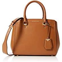 Michael Kors Benning Medium Leather Satchel - Shoppers y bolsos de hombro Mujer