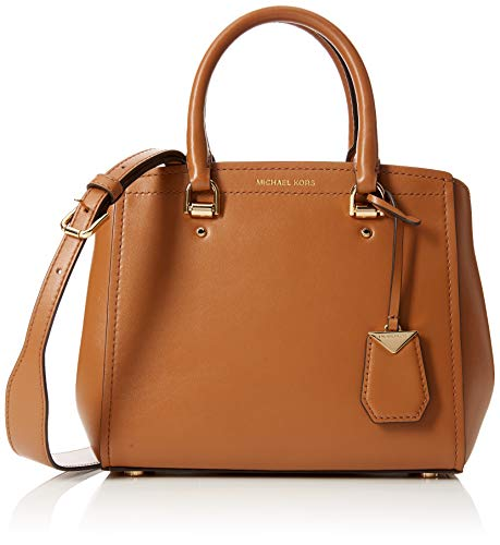 01560836db Michael Kors - Benning Medium Leather Satchel, Shoppers y bolsos de hombro  Mujer, Marrón