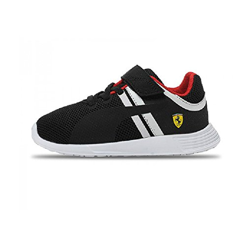 Puma F116 SF Ferrari Kids Junior Boys Motorsports Casual Touch Fastening Trainer Shoes  11 5 UK Child  Black
