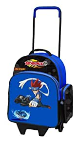 Beyblade - 07051370 - Fourniture Scolaire - Sac à Dos Easy à Roulettes Gingka