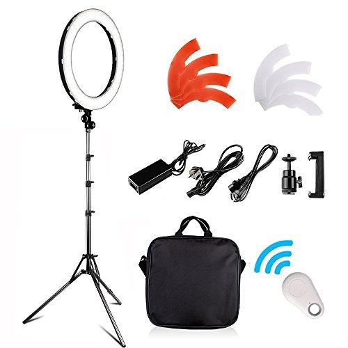 LED-Luce-ad-Anelloi-FOSITAN-18-pollici48cm-Outer-55W-5500K-Dimmerabile-240-LED-Kit-dIlluminazione-con-supporto-luminoso-2M-funziona-con-Smartphone-e-fotocamera-SLR-per-Studio-Ritratti-Fotografia-di-Mo