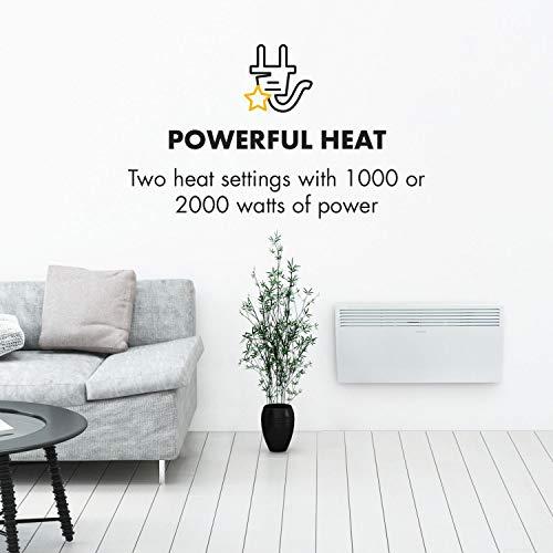 Klarstein–Hot-Spot-Slimcurve–Calefactor-convector–Circulacin-de-Aire–hasta-40m–Potencia-1000–2000-W–5-40C–80x40cm–Pantalla-LED–Programable–Grado-de-proteccin-IP24–Blanco