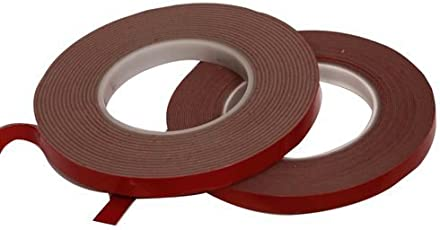 Euro Double Side VHB Tape for High Strength Bonding Between Any Surface - Wood, Glass, Metal, 12mmx8m (Grey)