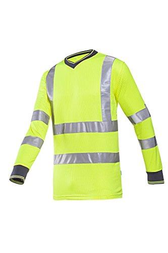 Preisvergleich Produktbild Frederik Sioen 3890a2mv1fy1X L Bresso T-Shirt, X-Large, Hi-Vis Gelb (10Stück)