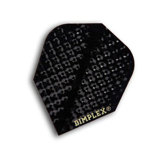 Harrows Dimplex Black Dart Flights 4 Sets (12 Flights) by Harrows Darts