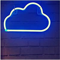 Blue Neon Light,LED Cloud Sign Shaped Decor Light,Wall Decor for Party (Blue)