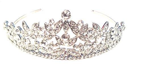 GENERIC Braut Diadem Tiara Silber Strass Kristall Diadem Tiara Besondere Anlässe Braut Haarschmuck Strass Silber Stirnbänder Hochzeit Haarreif Braut Kopfschmuck...