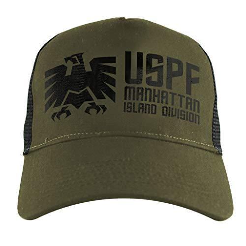 Snake Kostüm Plissken - Escape from New York USPF Manhattan Logo, Trucker Cap