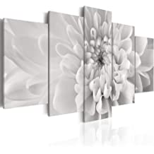 Cuadro en Lienzo 100x50! 5 partes - Impresion en calidad fotografica - Cuadro en lienzo tejido-no tejido - flores 030210-7 100x50 cm B&D XXL