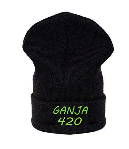 Beanie hat Bonnet Fashion Jersay Oversize Bad Hair Day Fresh I Love Gunja 420 Weed Leaf
