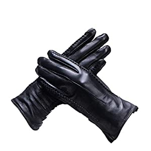 41yUSLgDEqL. SS300  - Gloves Cycling Ski Running Windproof Outdoor Winter Pure Leather Warm Driving Gloves ZHAOYONGLI