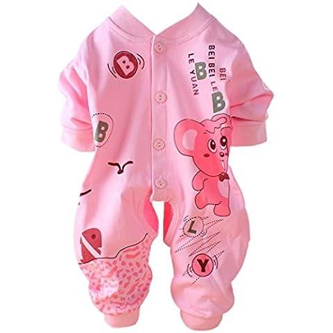 DAYAN Primavera recién nacido bebé pijama de algodón que suben Romper ropa leotardo