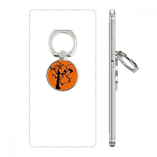 (DIYthinker Kratzbaum Halloween Hallowmas Orange Handy-Ring Ständer Halter Halterung Universal-Smartphones Unterstützung Geschenk)