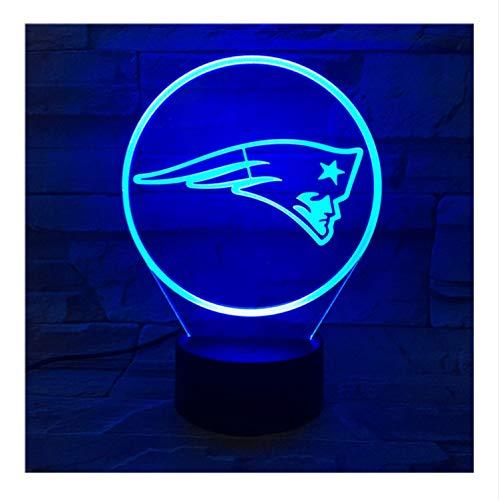 New England Patriots Nachtlampe Schlafzimmer Rgb Touch Sensor Kinder Kinder Geschenk Neuheit Team Logo Led Nachtlicht American Football
