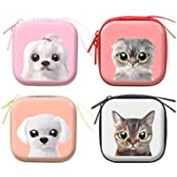 YUHUAWYH Women Mini Coin Purse Lady Silicone Wallets Small Storage Bag Purse Pouch Bag for Keys Lipstick Card of 4 Pieces (7 * 7 * 3.5 cm)