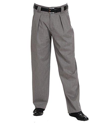Vintage Bundfaltenhose in Grau meliert, im Stil der 50er, 60er Boogie Style mit Extraweit geschnittene Beine Model Boogie Größe - Western Tanz Kostüm Bilder