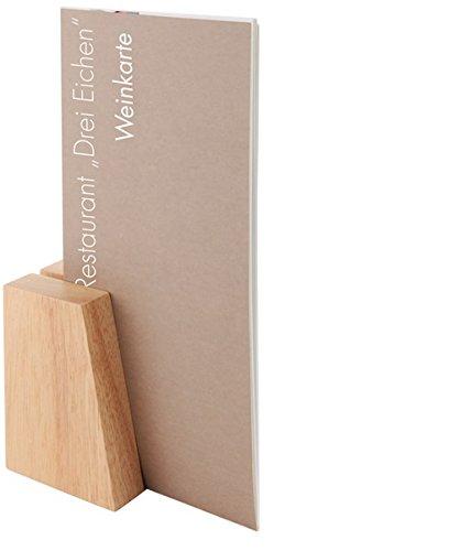 Kartenhalter, 2er Set, aus Holz / 8,5 x 6 cm | SUN