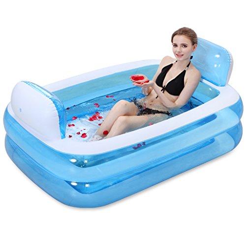 sunjun & tubble aufblasbare Badewanne Erwachsenen Größe tragbare Home Spa, Baby Frühe Bildung Schwimmbad, bequem Bad, Qualität Wanne blau